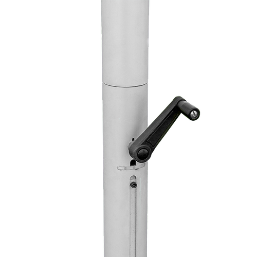 Crank allows for easy height adjustments and can be removed for safety