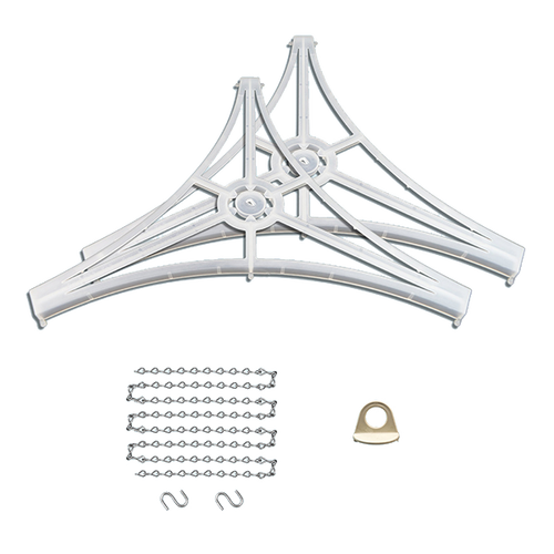 Large 3-Sided Hanging Sign hardware set