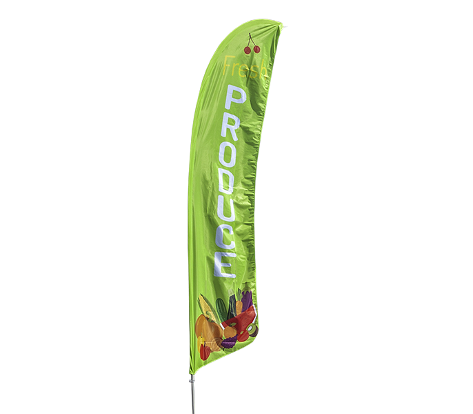 UPS Double-Sided, Poles and Cross Base Included - Style 2 13.5ft Feather Banner