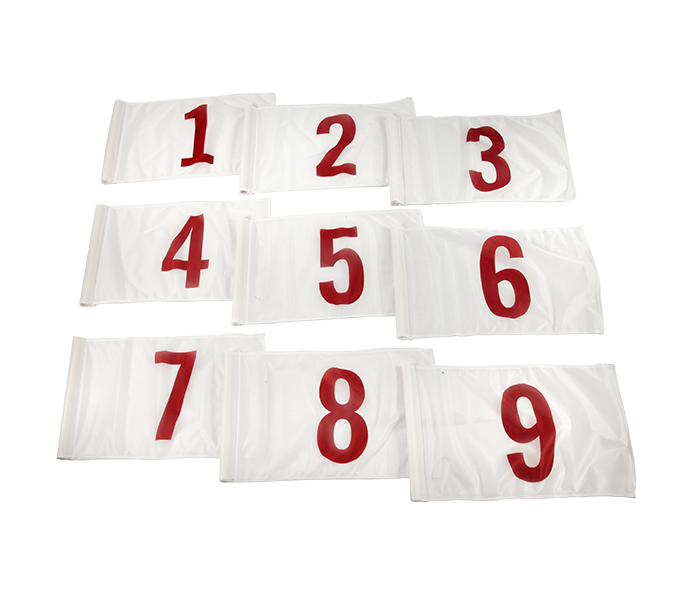 Numbered Golf Flag Set