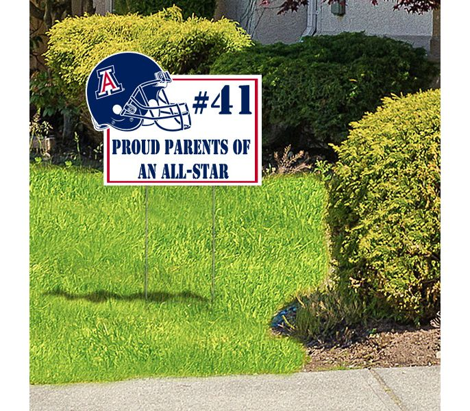 custom shape yard signs